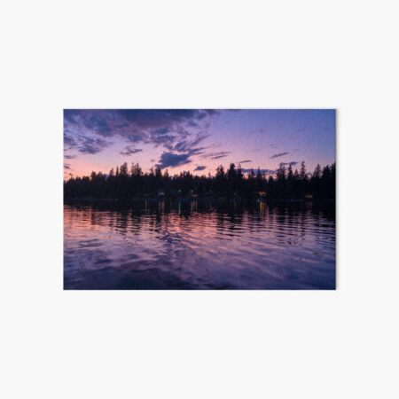 Purple Dream - PNW Sunset 001 Art Board Print