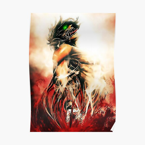 attack on titan design 25 Poster