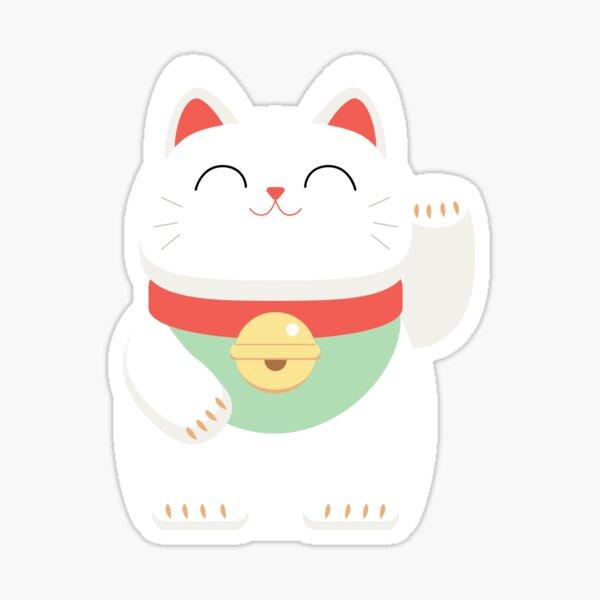 Japanese Maneki-neko lucky cat Sticker