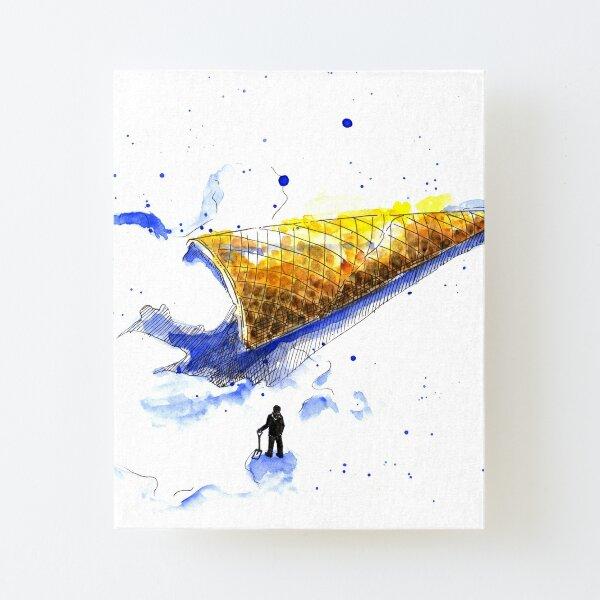 Shovelling Ice Cream Canvas Mounted Print