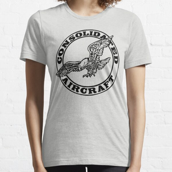 Consolidated Aircraft Logo (Black) Essential T-Shirt