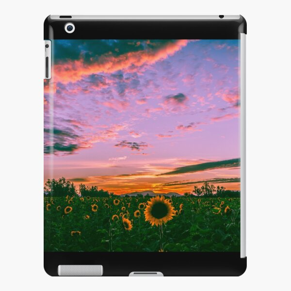 Sunflowers at sunset iPad Snap Case