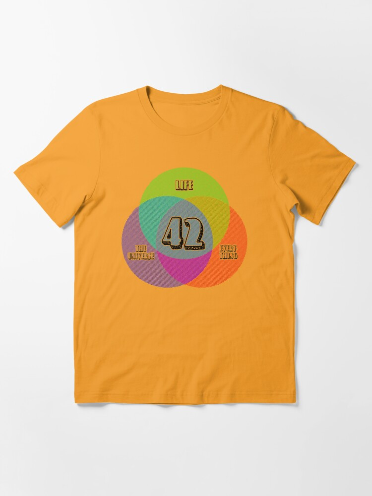 Alternate view of NEW Venn Diagram: Life, the Universe & Everything (for light shirts) Essential T-Shirt
