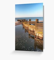 Norfolk groyne Greeting Card