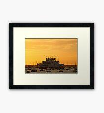Sunset over Cowes Framed Print