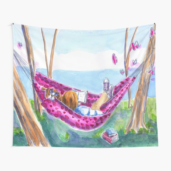 Perfect dog day afternoon Tapestry