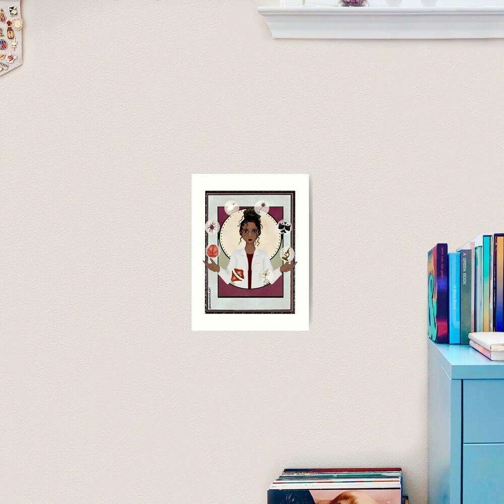 Woman in Neuroscience (the Juggler) Art Print