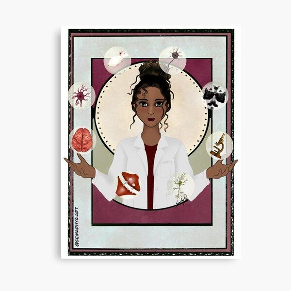 Woman in Neuroscience (the Juggler) Canvas Print