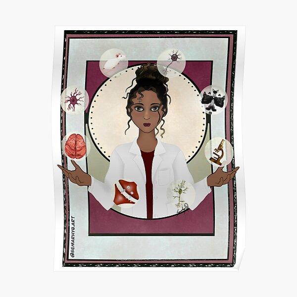 Woman in Neuroscience (the Juggler) Poster