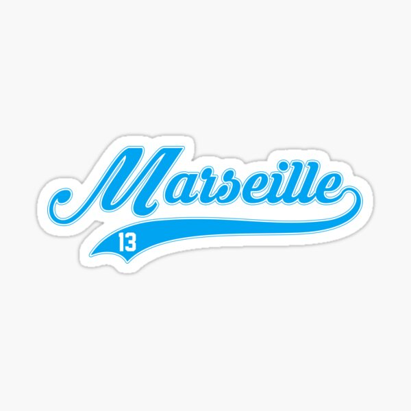 Marseille style de baseball Sticker