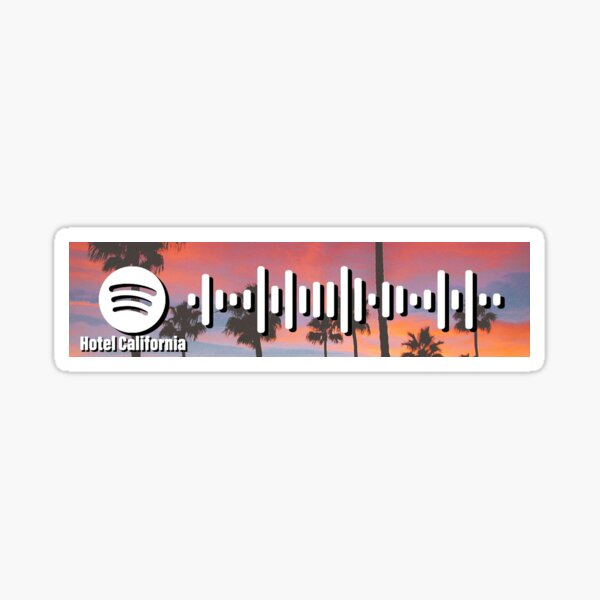 Hotel California - The Eagles - spotify code 1 Sticker