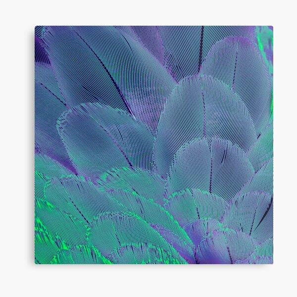 Neon psycodelic feathers Metal Print