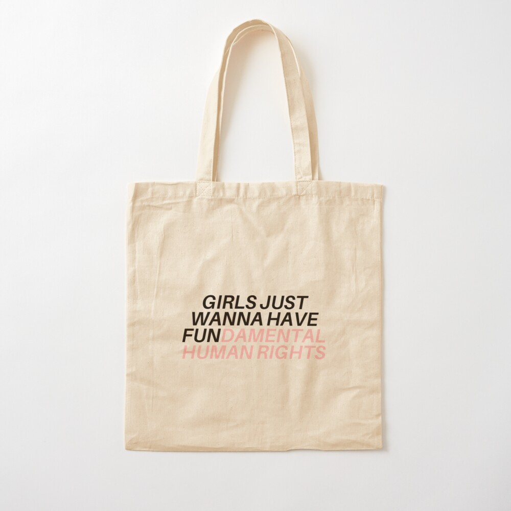 Canvas Tote Bag Girls Just Wanna Have Rights
