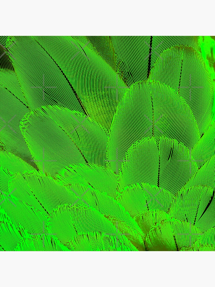 Neon psycodelic feathers bright yellow green by yahmelo