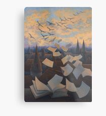 Flying Over City Metal Print