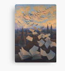 Flying Over City Canvas Print