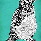 Tribal Penguin by Pom Graphic Design
