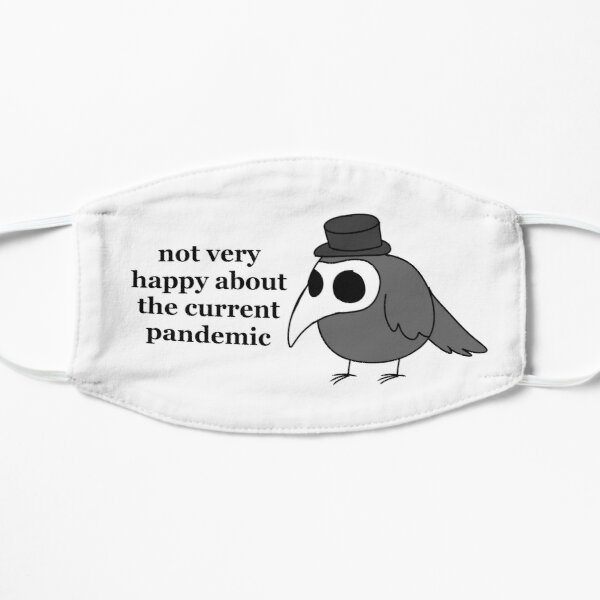 """""""Not Very Happy"""" Cute Plague Doctor Flat Mask"""