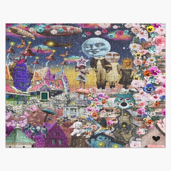 Under The Floral Moon Jigsaw Puzzle