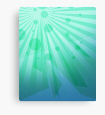 Bright Green iPad Design Canvas Print