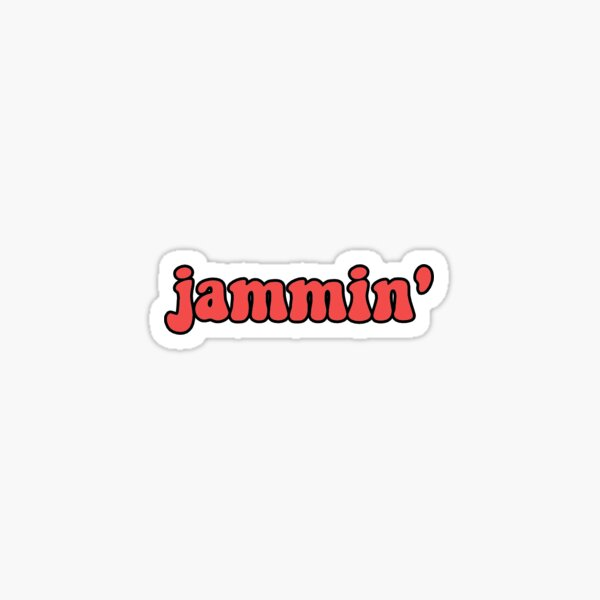"""bob marley """"jammin'"""" sticker Sticker"""