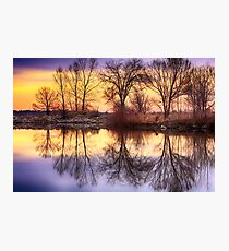 Pella Crossing Sunrise Reflections HDR Photographic Print
