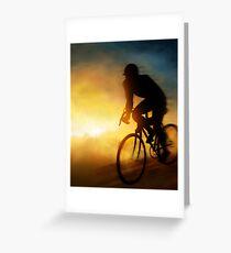 Cycling Cyclist Greeting Card