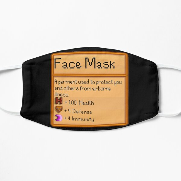 Stardew Valley Face Mask Flat Mask