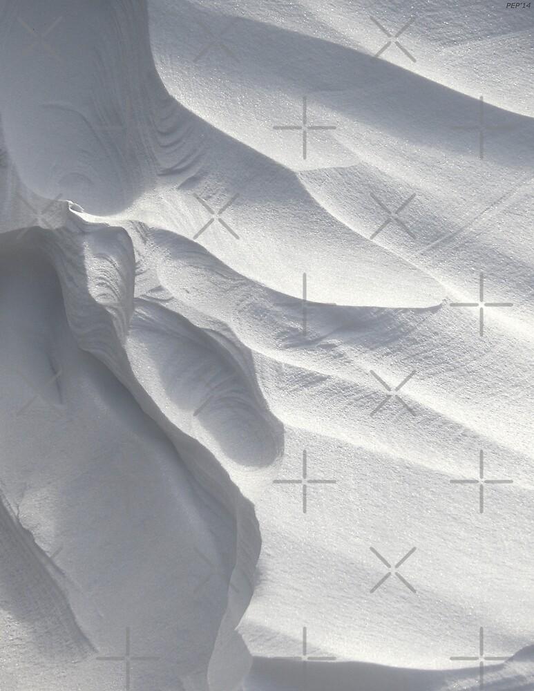 Winter Snow Drift Sculpture  by Phil Perkins
