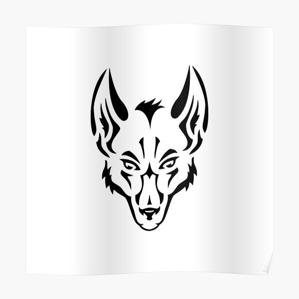 Wolf Logo White Poster