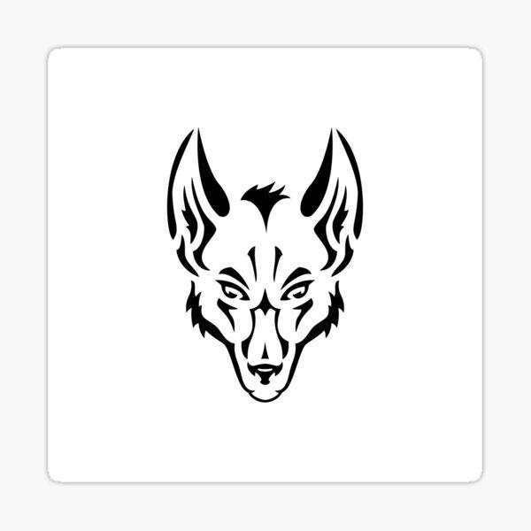 Wolf Logo White Sticker
