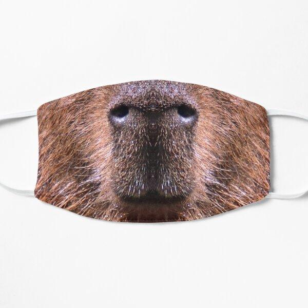 Capybara Face Photo Facemask Flat Mask