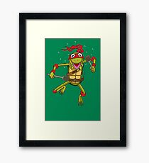 Teenage Muppet Ninja Puppet Framed Print