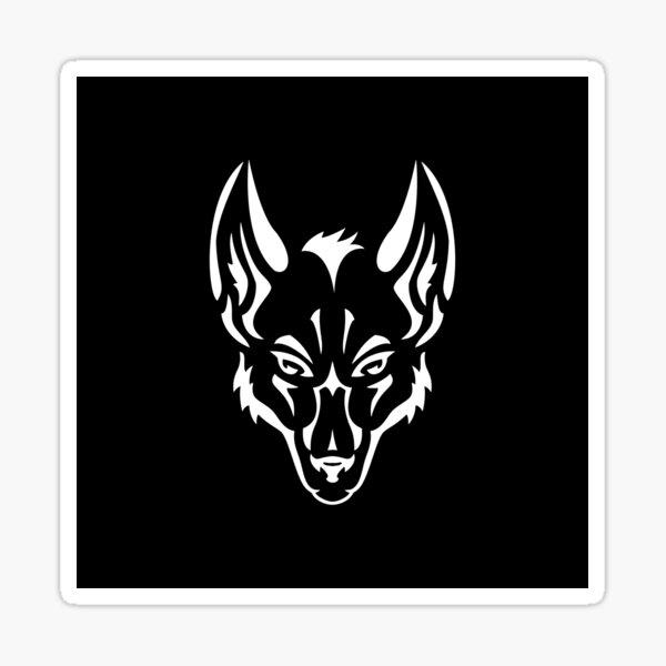 Wolf Logo Schwarz Sticker