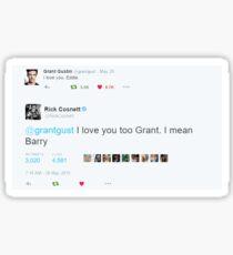 Gusnett / Thallen - I Love You Tweet Sticker