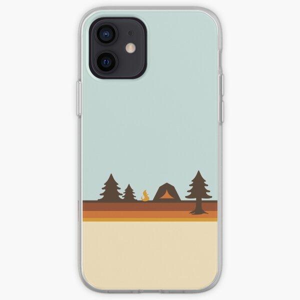 Happy Camper (Retro, 70s, Camping) iPhone Soft Case