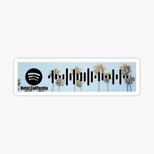 Hotel California - The Eagles - spotify code 3 Sticker