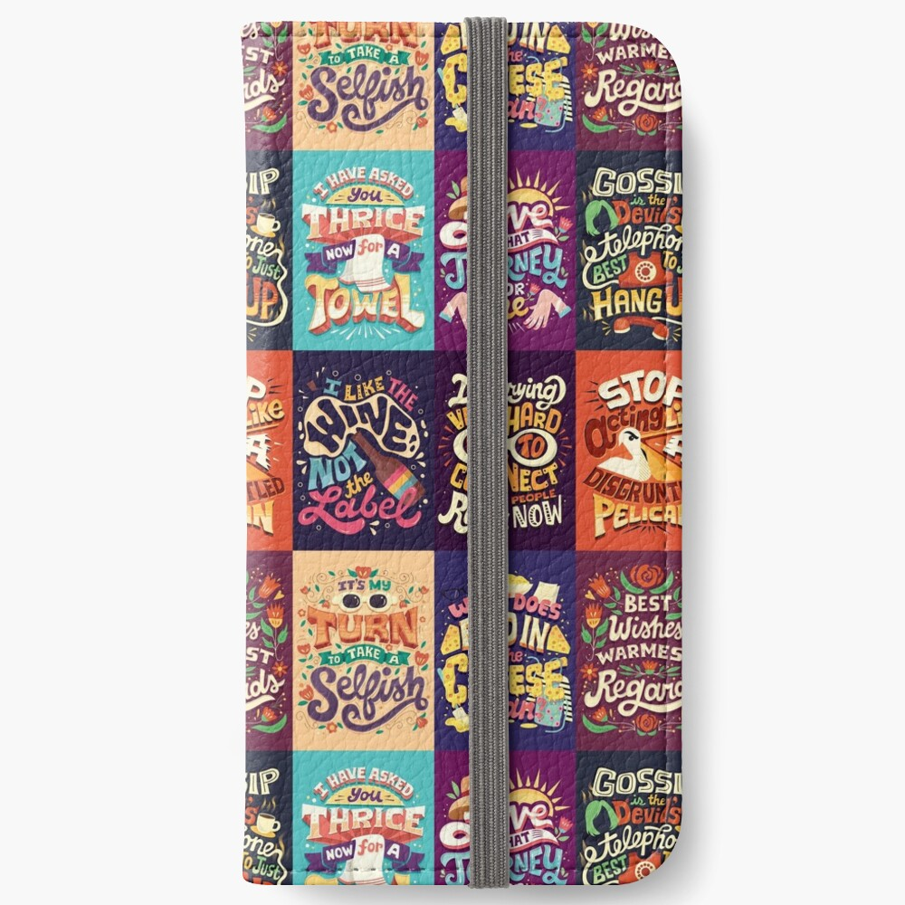 SC Collage iPhone Wallet