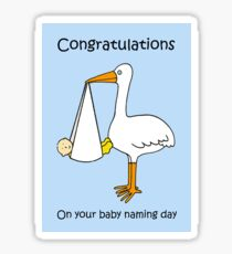 Congratulations on Baby Naming Day (for a Boy). Sticker
