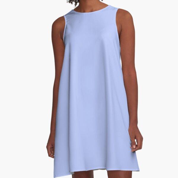 Solid Periwinkle Blue A-Line Dress