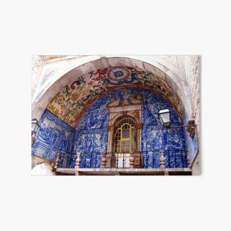 Ornate Tiled Facade - Obidos, Portugal Art Board Print