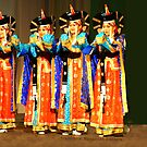 Traditional Mongolian Dancers by Geoffrey Higges