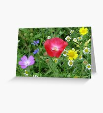 Wild Mixed Flowers Greeting Card