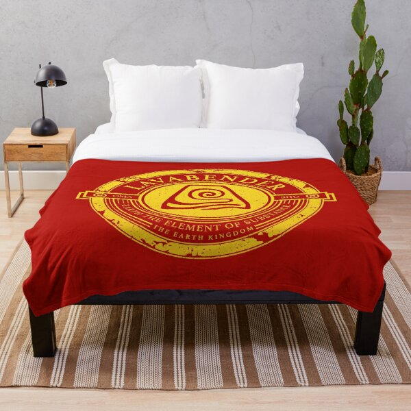 Lavabender Symbol: Avatar The Last Airbender-Inspired Design v2 Throw Blanket