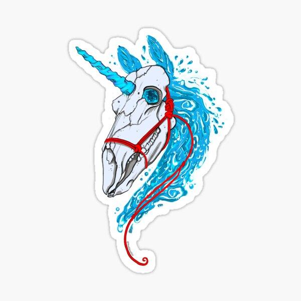 Water Elemental Unicorn Sticker