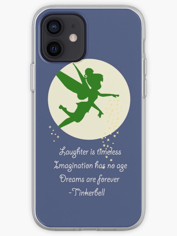 confiance et un peu de poussière de lutin., J'adore tellement la fée clochette   Coque iPhone