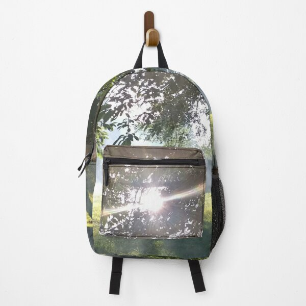 Merch #12 -- Smoky Tree Sun Rays - Portrait Shot (Pearson Park) Backpack