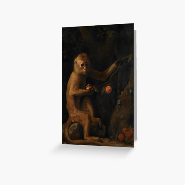 A Monkey by George Stubbs Greeting Card
