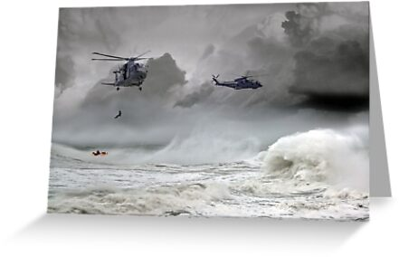 Merlin Rescue by Airpower Art