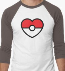 Pokéheart Men's Baseball ¾ T-Shirt